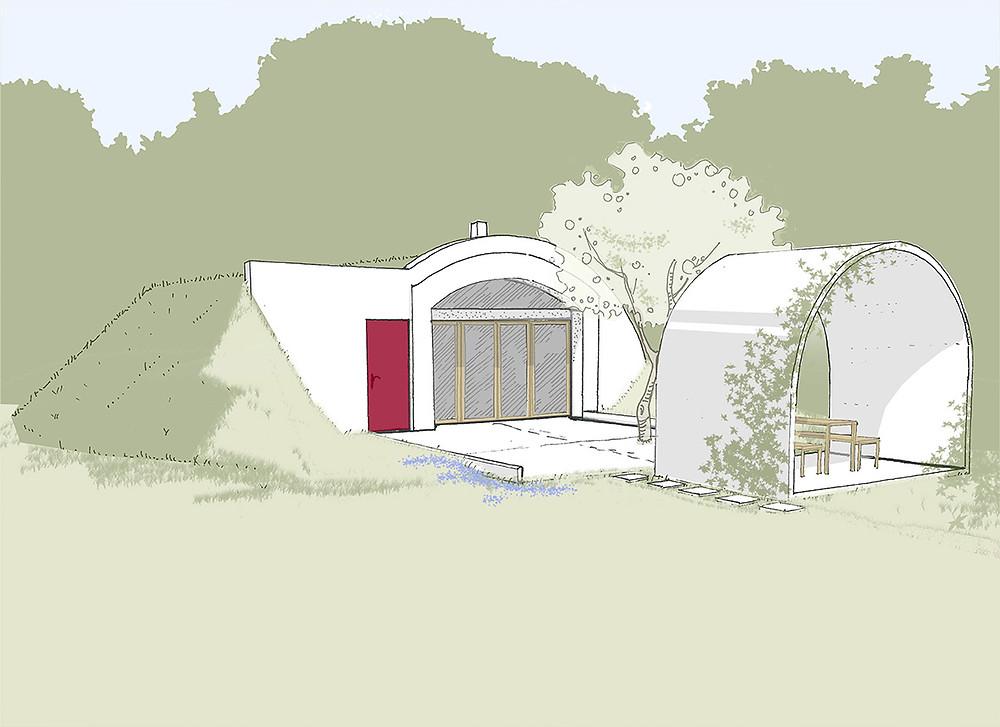 Vizualizace apartmanu tvaru sklipku