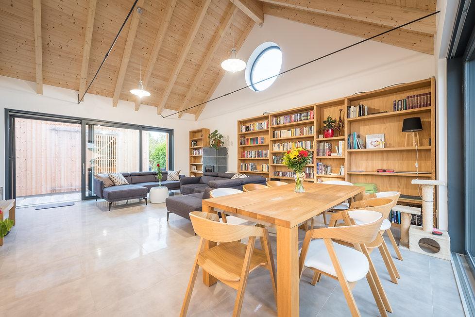 Fotky jídelna a obývací pokoj
