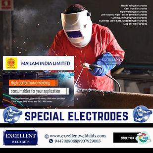Special Electrodes, 7018 electrodes,cutting electrodes,