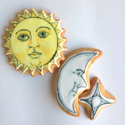 Sun and Moon Cookies