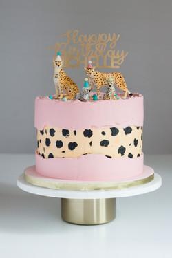 Cheetah Fault Line Cake