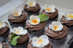 Hawaiian Flower Cupcakes