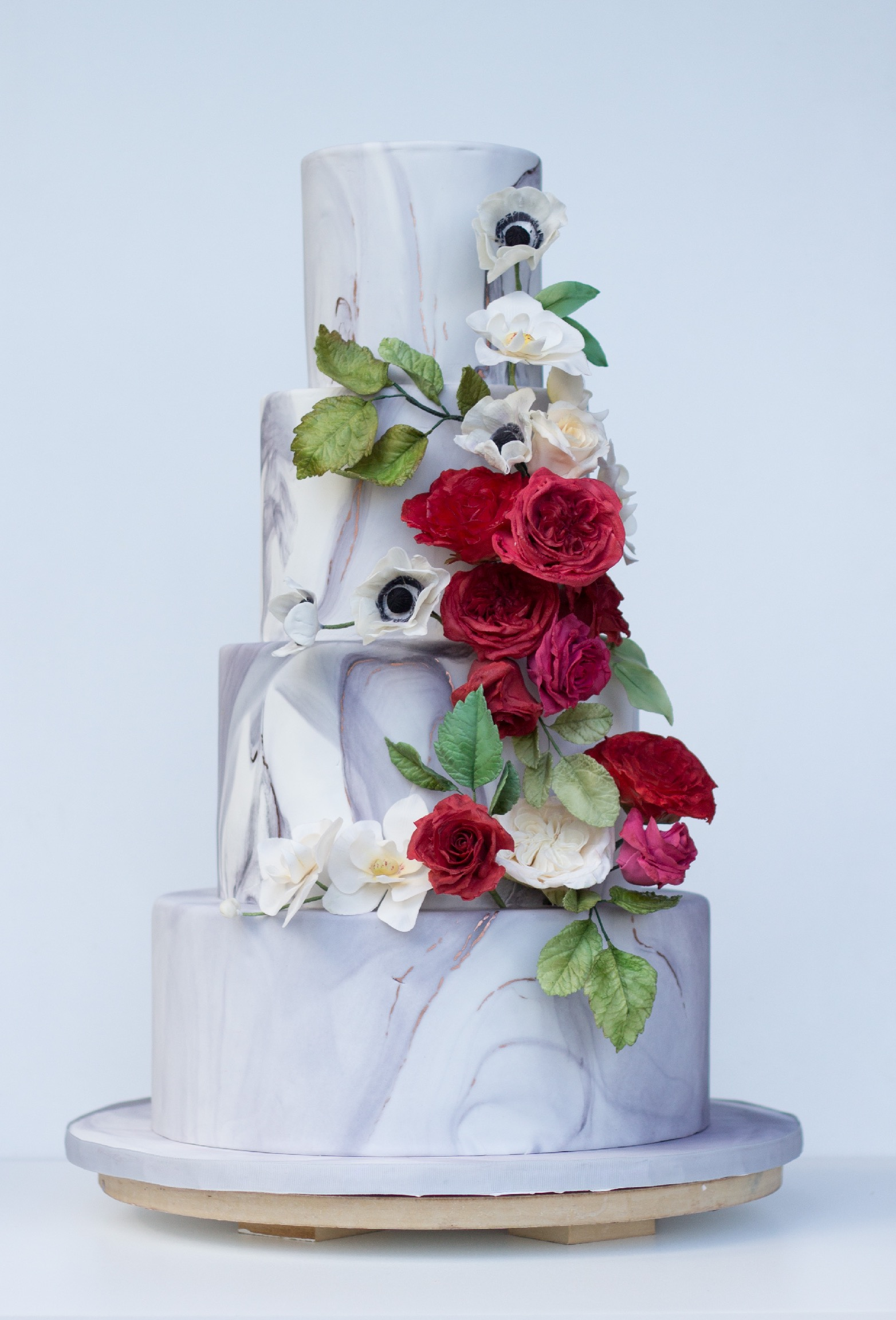 Red Sugar Roses and Marble