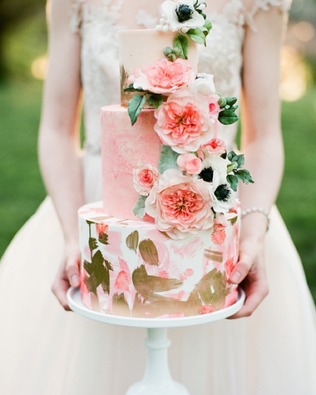 Bold Brush Strokes and Sugar Flowers