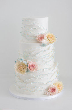 Ruffles and sugar flowers