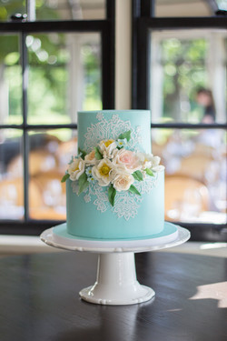 Lace and Spring Sugar flowers