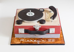Record Player Cake