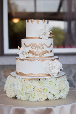 Gold Baroque Cake