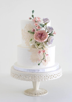 Lace and Sugar Flowers