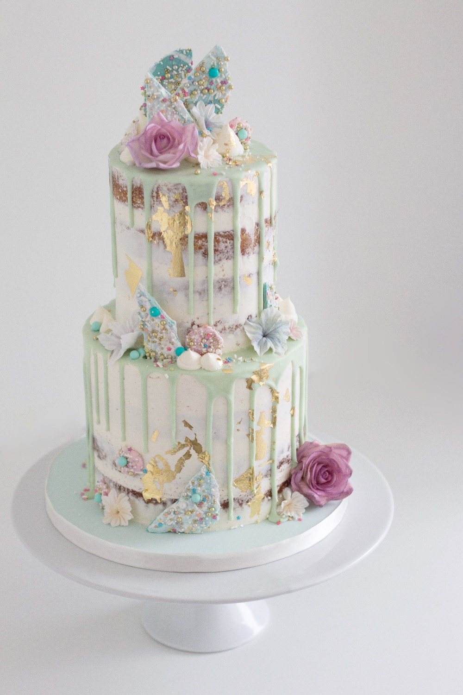 Pastel Drippy Cake