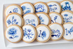Hand Painted Blue China Cookies