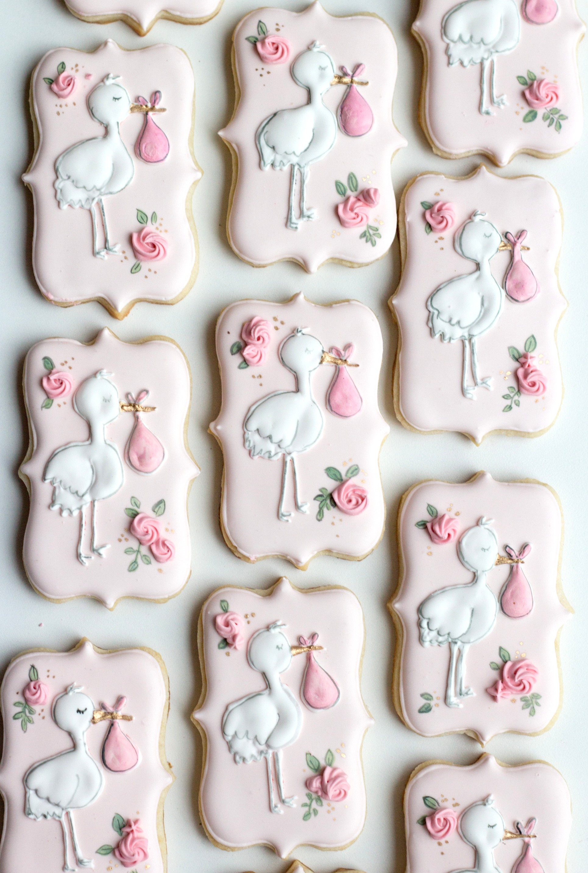 Baby shower cookies girl