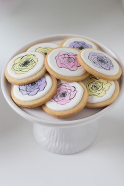 Flower Painted Cookies