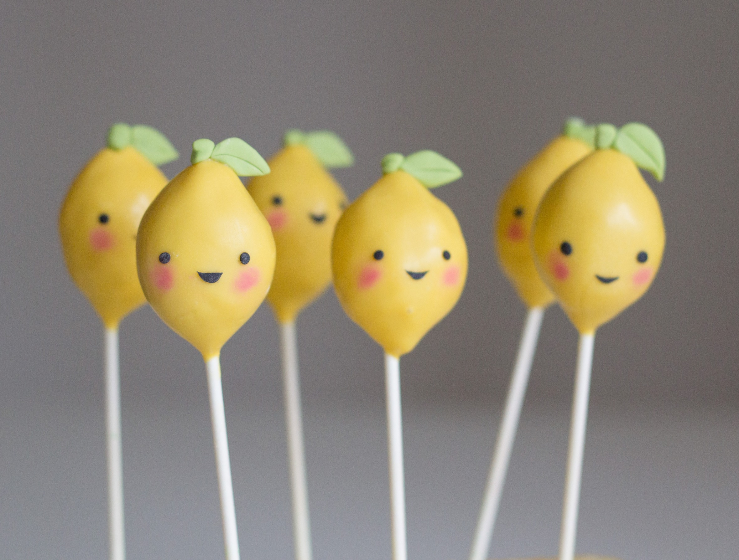 Lemon Heads cake pops