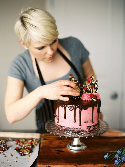 pretty chocolate birthday cake