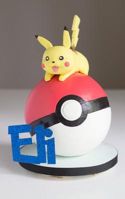 Pokeball Pikachu Cake