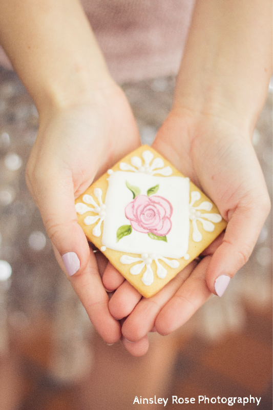 Painted Rose Cookie