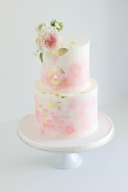 Buttercream watercolor cake