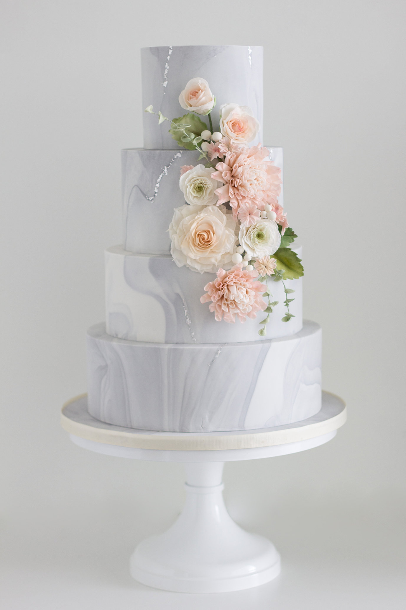 Marble And Blush Sugar Flowers