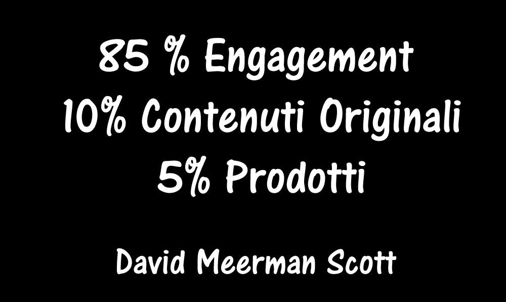 Formula Attività Social secondo David Scott