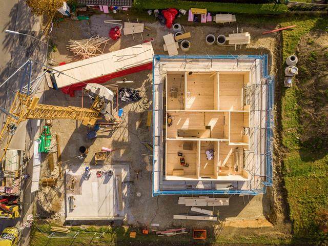 "Neubau eines Massivholzhauses  2. Tag"""