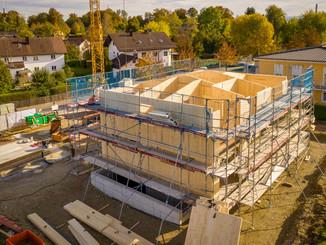 Neubau eines Massivholzhauses  2. Tag