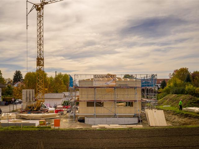 Neubau eines Massivholzhauses 3. Tag
