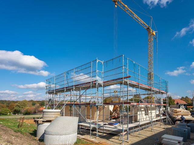Neubau eines Massivholzhauses 1. Tag