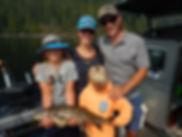 Family Fishing guided boat trips, things to do with the family in the shuswap and sicamous