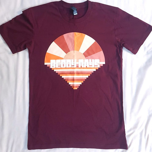 Burgundy Rays T-Shirt