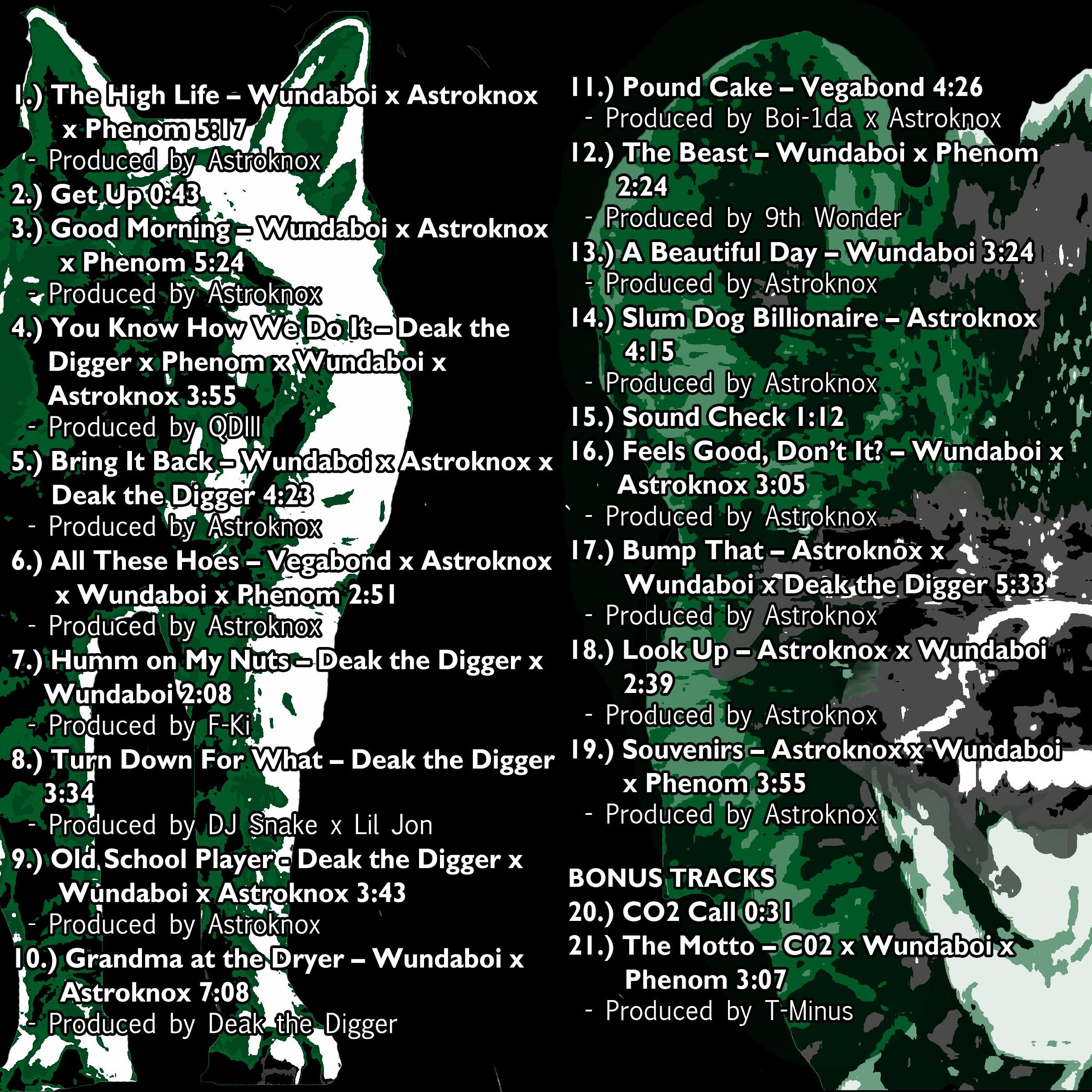 The High Life Tracklist