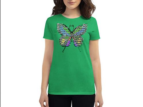 Women's Butterfly Poem T-Shirt (Green)