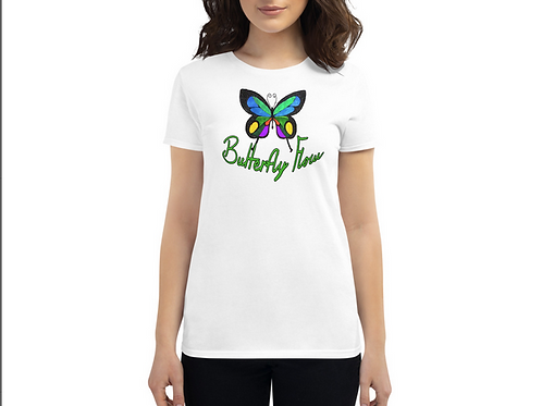 Women's Butterfly Flow T-Shirt (White)