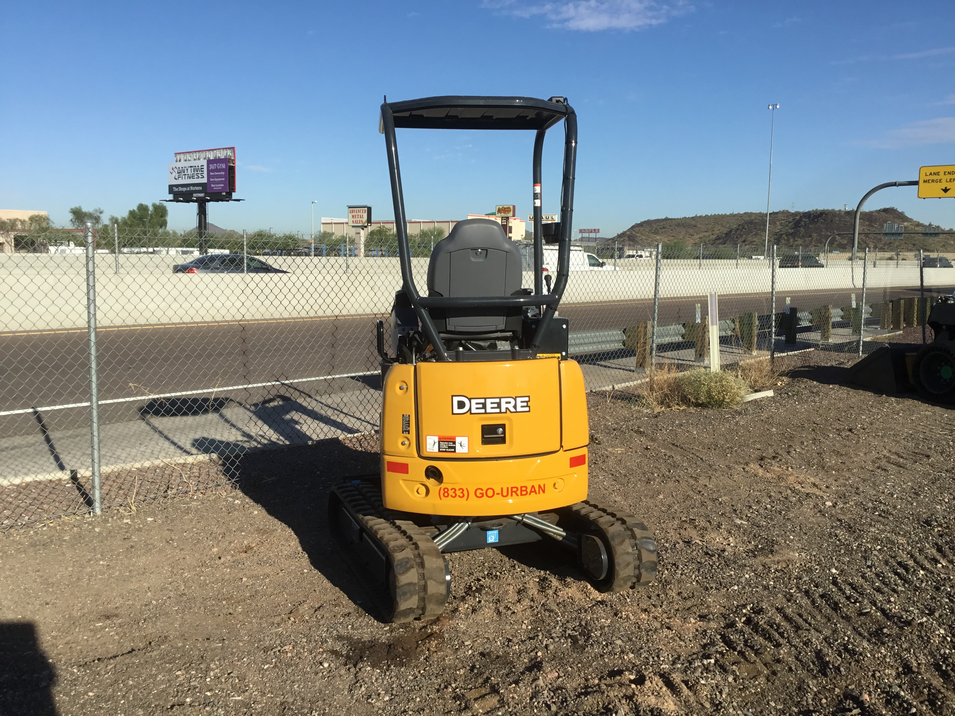 Urban Equipment Rentals Mini Excavator John Deere 17G  5