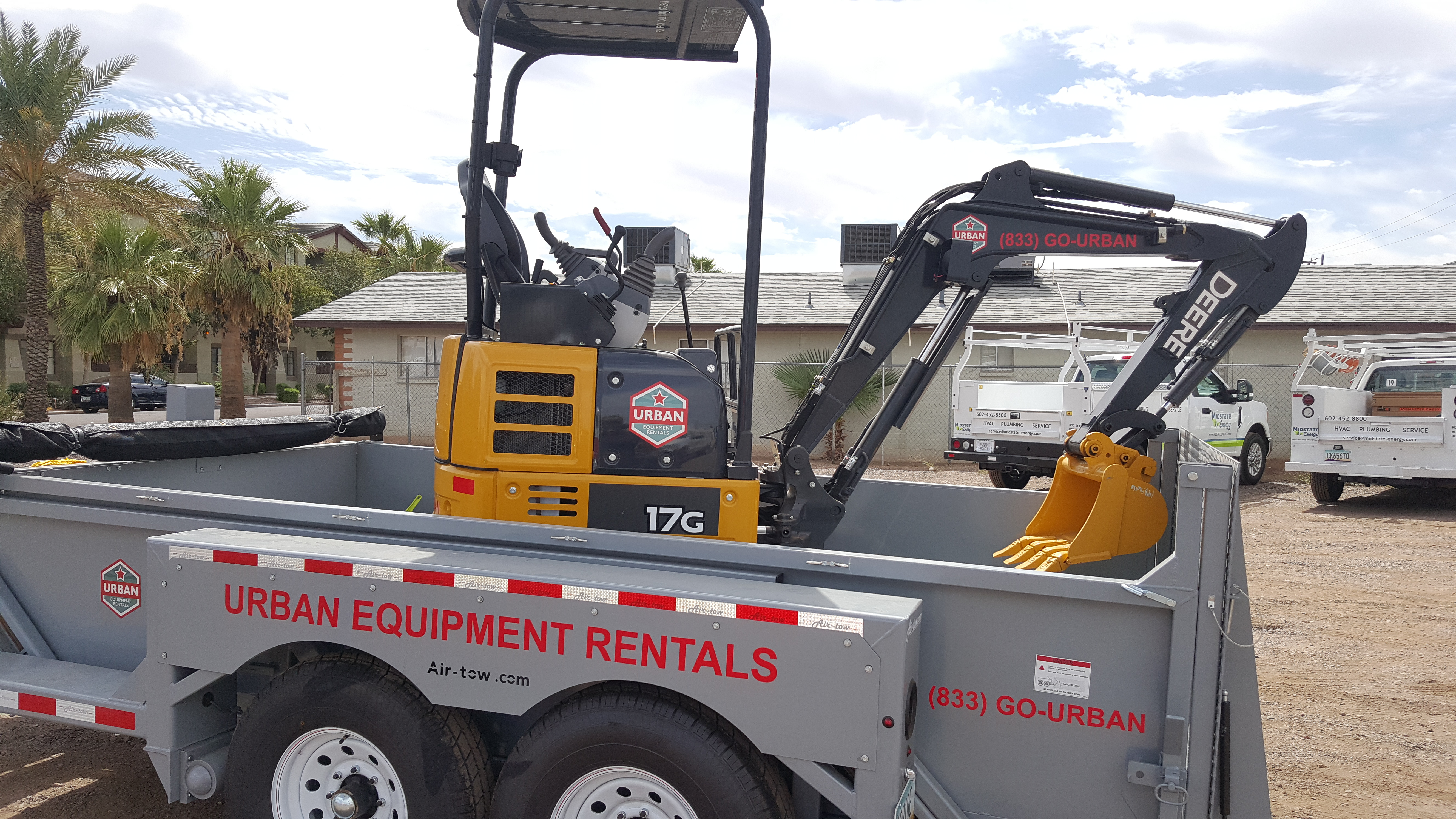 Urban Equipment Rentals John Deere 17G Excavator Mini Excavator