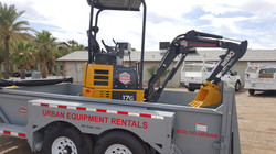 Urban Equipment Rentals John Deere 17G Excavator Mini Excavator