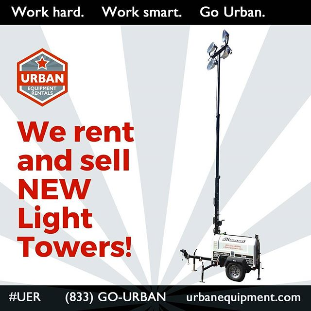URBAN RENTS & SELLS LIGHT TOWERS