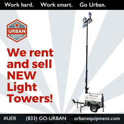 URBAN RENTS & SELLS LIGHT TOWERS