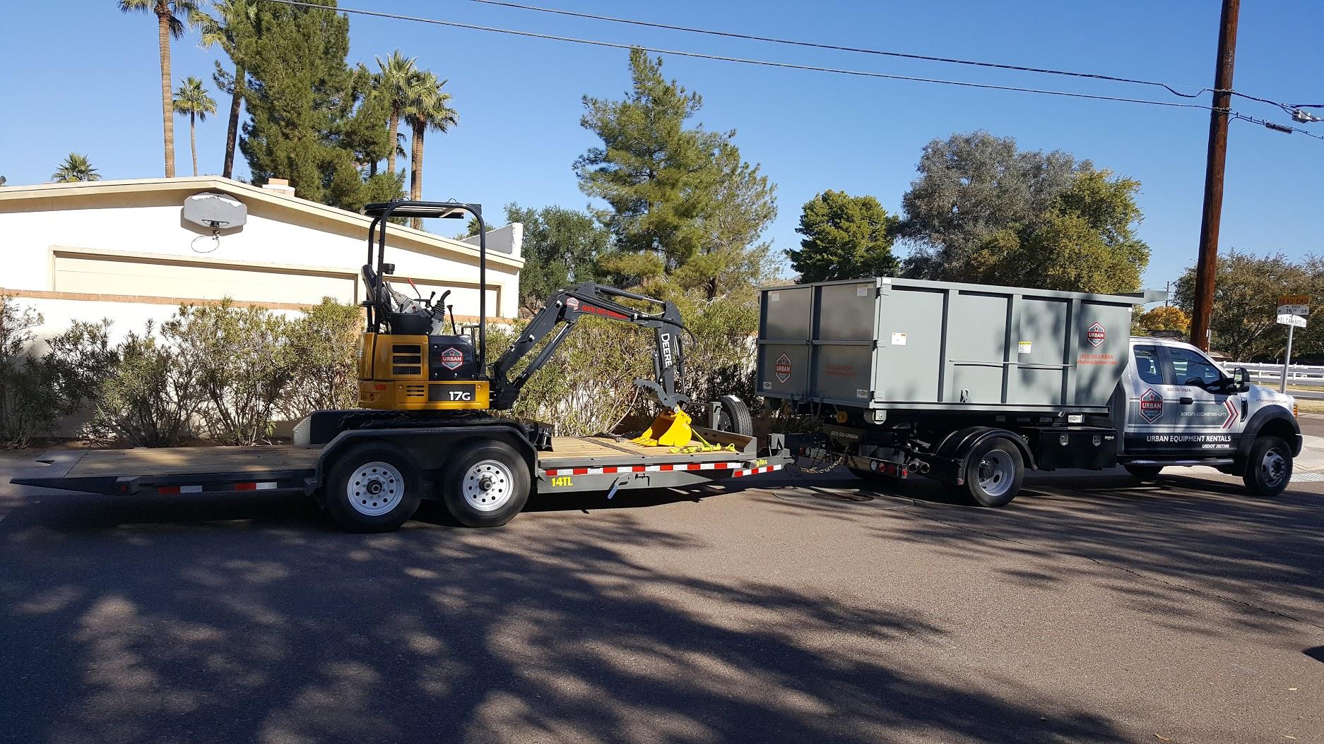 Urban Equipment Rentals Dump Truck with Excavator Rental