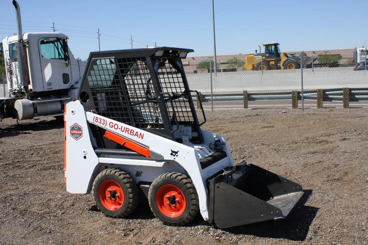 Urban Equipment Rentals Bobcat Mini Skid Steer S70 Bucket Material Handler