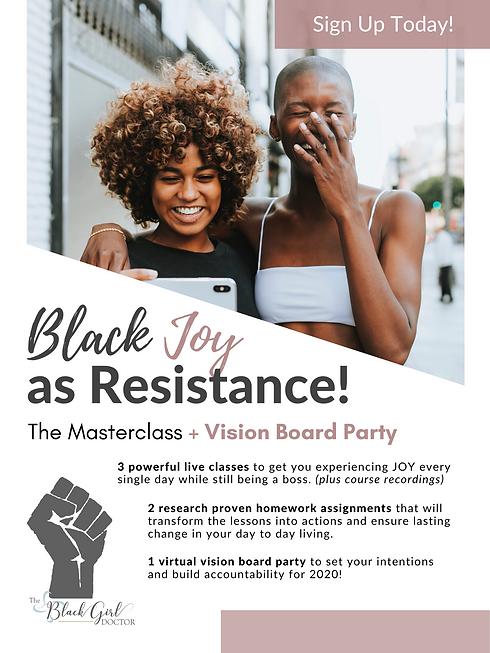 Black Joy as Resistance Masterclass Post
