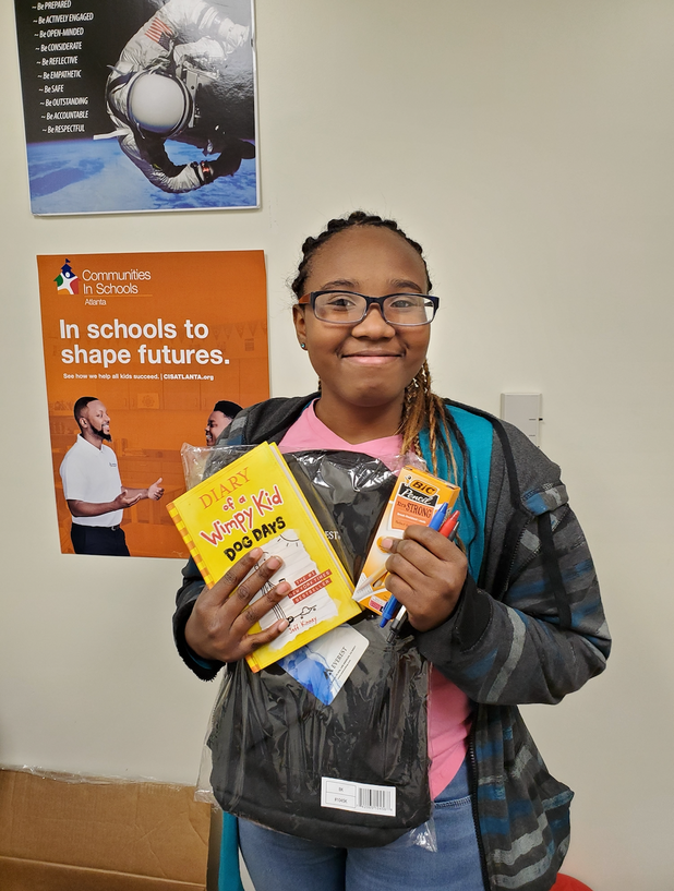 CIS of Atlanta Students Received Back to School Supplies from Shaquille O'Neal's Initiative