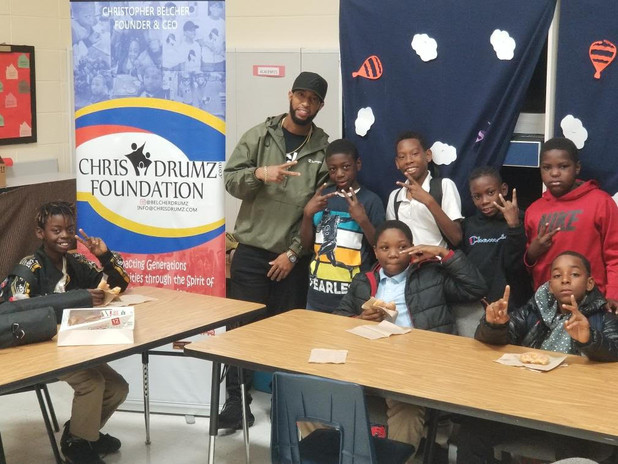 Weekly Mentoring Group for Boys Partners with Chris Drumz Foundation