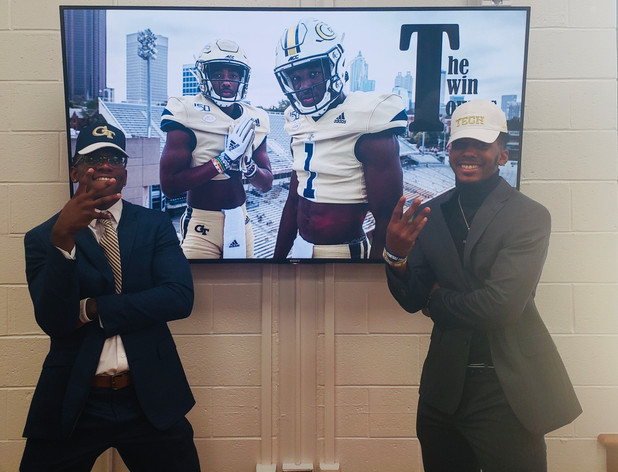 On the Frontline! CIS of Atlanta Students Choose GA Tech on National Football Signing Day!