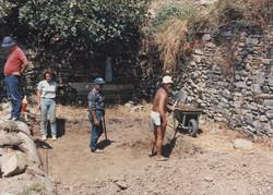 Ανασκαφή στο κάτω άνδηρο της αγοράς, 1987