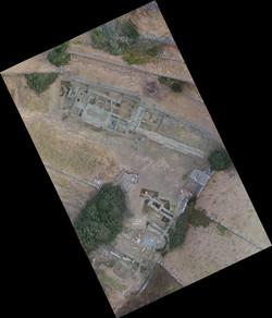 Ορθοφωτογραφία της ανασκαφής της αγοράς της αρχαίας Άνδρου, 2016