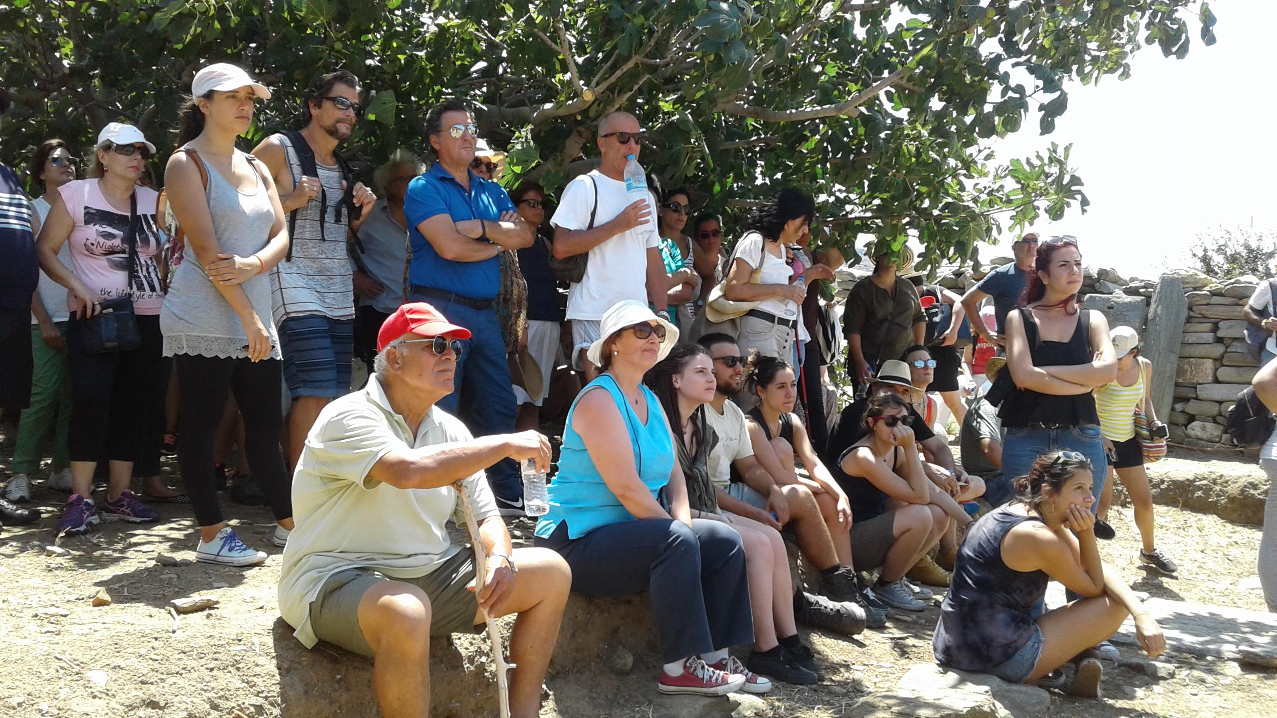 Έκθεση 2017, ξενάγηση στον αρχαιολογικό  χώρο, 05.08.2017