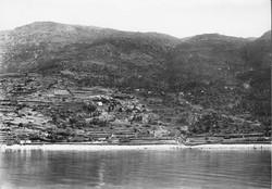 Παλαιόπολη. Άποψη από τη θάλασσα στα τέλη του 19ου αι.
