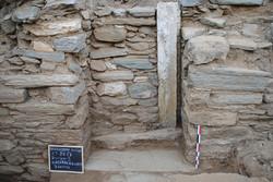 Η είσοδος του βόρειου κλίτους της βασιλικής, που αχρηστεύθηκε αργότερα