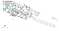Κάτοψη της ανασκαφής στο άνω άνδηρο της αγοράς, τα κατάλοιπα του 5ου-4ου αι. π.Χ. (δρόμος IV, κτήριο